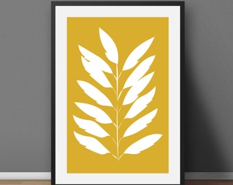 Scandinavian Wall Art Prints Wall Decor Minimalist Poster Digital Print Modern Art Scandinavian Print Leaves Wall Print Minimalist Art Print