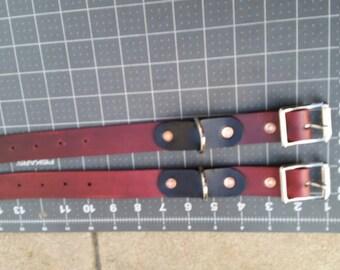 Basic cherry leather restraints