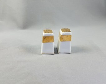 Vintage Miniature Lusterware Hand Painted Salt and Pepper Shakers
