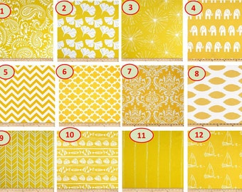 SALE CLEARANCE Lowest Price Grommets option also Window CURTAIN premier print Yellow and white cotton Customized Width and Length