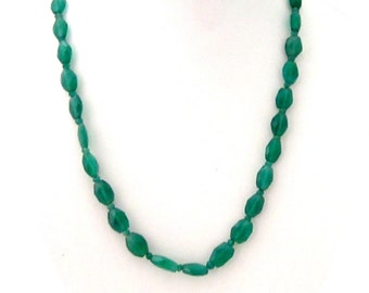 Semi Precious Green Onyx Necklace - AJS361