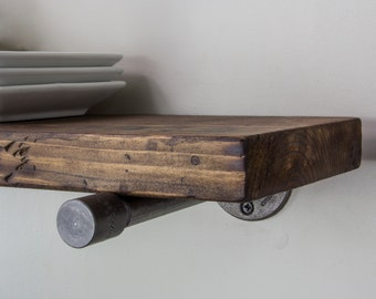 Floating Shelves, Industrial Floating Shelves, Wood Shelf, Rustic Floating Shelf, Kitchen Floating Shelves, Farmhouse Decor Shelves