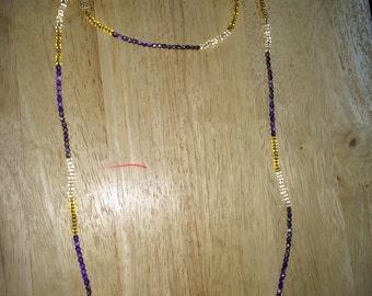 The Grace Wrap Necklace in Dusty Lavendar