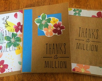 Thanks a Million - Thank You Notes (Set of 3)