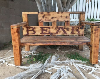 Custom wooden bench