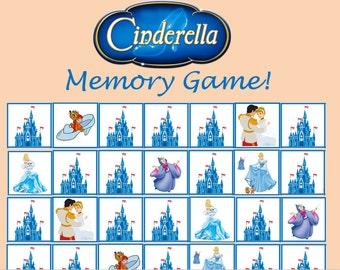 Cinderella Memory Game! Instant Download!