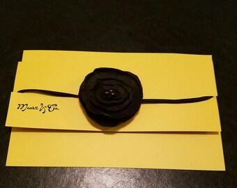 Black vintage Lollipop flower headband