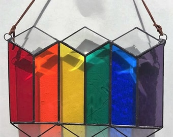 Suncatcher Rainbows & Bevel Pride