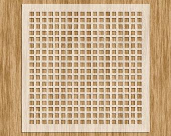 Mini Series Stencil - Square Screen Pattern Sku# P0105M