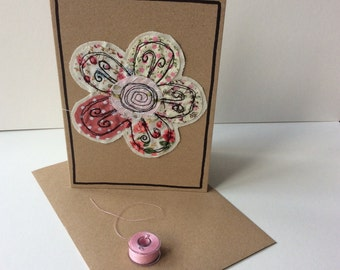 Raw edge applique card