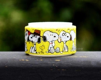 15mm x 5m, washi tape -snoopy, yellow (N7D)