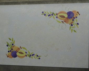 Hand Painted Floor Mats- Stenciled Fruit