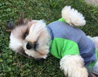 Raglan shirt short sleeves 98% cotton Small, Medium, Large Dog Clothes Apparel