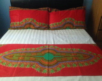 African Angelina Dashiki 3 Piece Bed Set