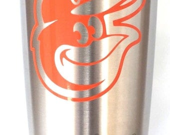 Baltimore Orioles Decal Sticker For Yeti RTIC Rambler Tumbler Coldster Beer Mug