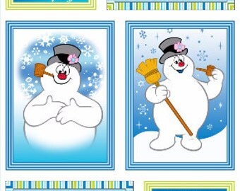 Holiday fabric Silly Snowman Frosty the Snowman Fabric Panel From Quilting Treasures
