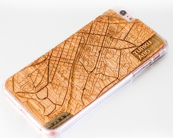 VIN.N Map Art Case for iPhones, Samsung and Sony phones
