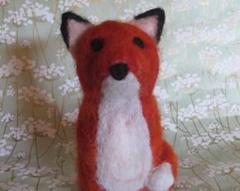 felted orange fox