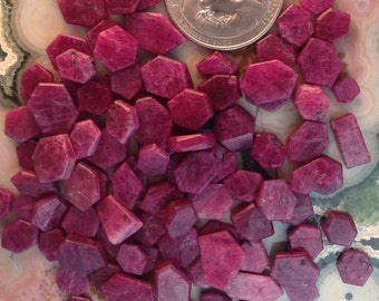 Madagascar Ruby Crystals. Unheated/Untreated. Side cut for Jewelry...10 dollars per stone