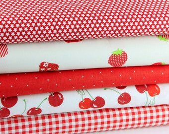 Fabric package, kids. Berries. 5 x 50 x 35 cotton fabric,.