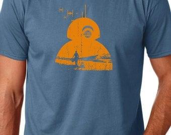 BB8 - Star Wars - Screen Printed T-Shirt - Force Awakens - Cult Movie inspired