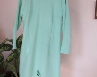 50% OFF 1960s Green Polyester Star Trek Dress Town Sophisticates