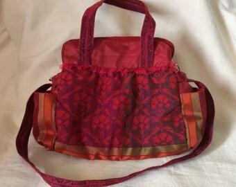 Women's bag Handbag Red bag Shoulder bag Wine-red color Women's hand bag Handmade