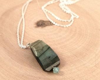 Labradorite & Peruvian Opal Necklace