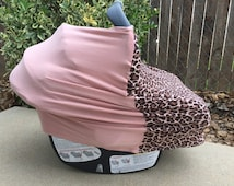 Stretchy Car Seat Cover // Poncho Nursing Cover // Shopping Cart Cover // Baby Shower Gift