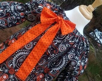 Sugar Skull Glam Peasant Dress Custom Boutique