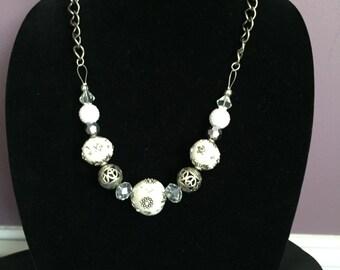 White & Silver Necklace