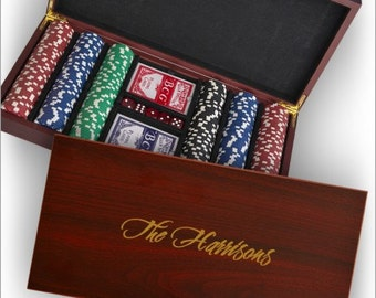 Poker Set  with Personalized Case - 3435/3597