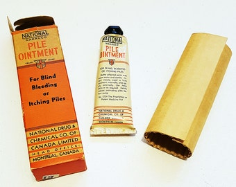 Antique Hemorrhoid 'Pile Ointment' Tube, with Original Box