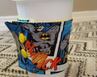 Batman Coffee Cozy Sleeve