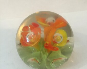 Small Glass Paperweight