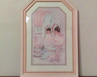 Ballerina Framed Print | Dancer | Girl's Room | Baby Room