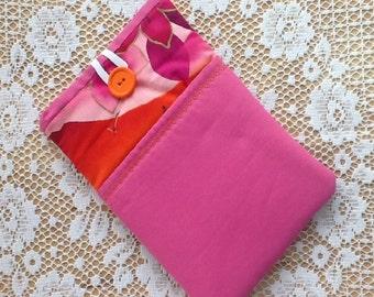 Vintage Pink Tropical Print Kindle Fire Sleeve
