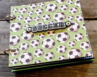Soccer Scrapbook Album, Sports Album, Soccer Brag Book, Mini Album, Chipboard Album