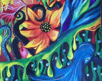 Gouache Octopus Painting