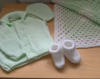 Handknitted Baby Gift Set Size 3-6 months