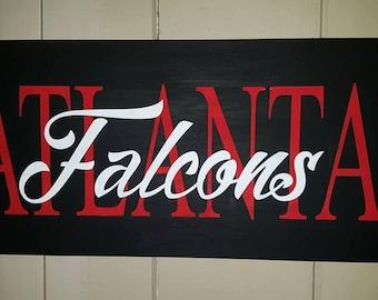Custom Painted Atlanta Falcons Signs