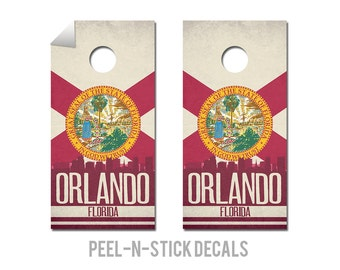 Orlando State Flag Skyline Decals