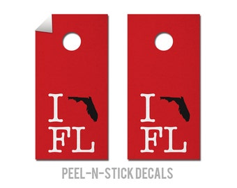 Tampa Bay - Buccaneers - State Pride - Cornhole Board Decals