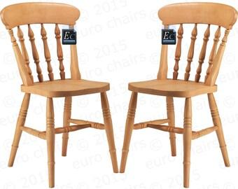 Farmhouse Spindle-Back Chair: