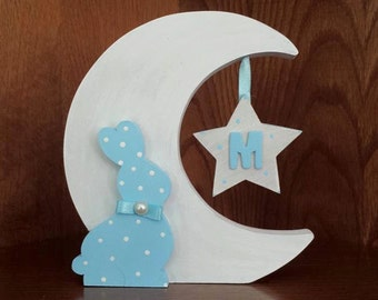 Moon baby with initial