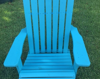 Sturdy, Adirondack Chair, Outdoor Furniture, Made with Reclaimed Treated Wood.