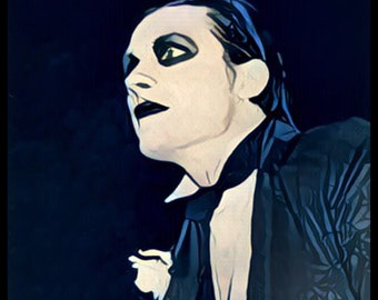 "Dave Vanian ""The Damned"" poster Print (fan art graphic)"