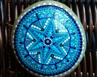 Mandala. Stone painted sea.