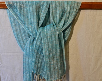 Handwoven linen scarf