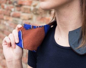 detachable collar black vegan leather